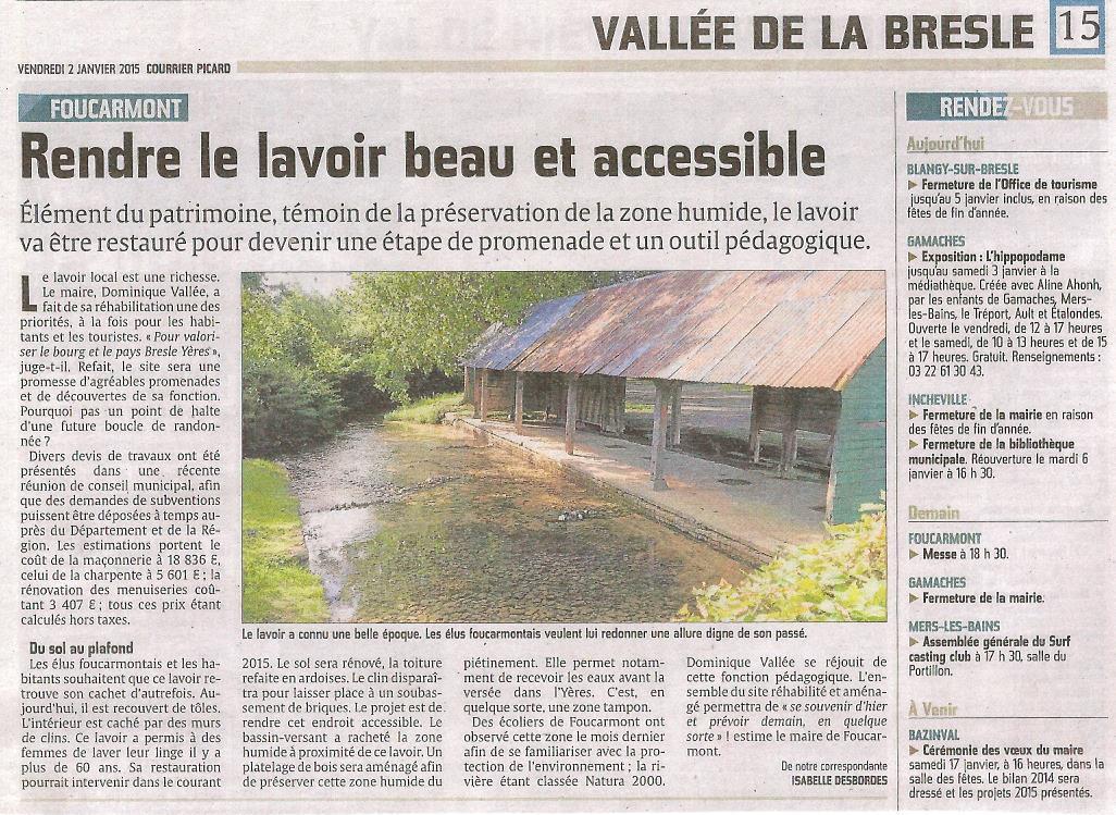Lavoir Courrier Picard 02 01 2014