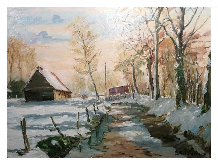 Jean Quéméré excelle dans la représentation de scènes hivernales