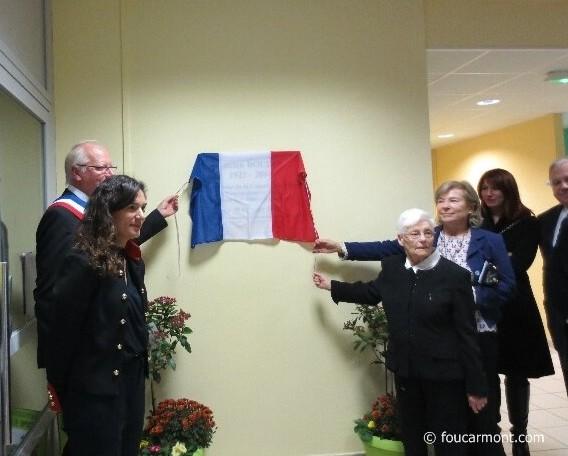 Jacqueline Boudin, sa fille Pascale et son fils Jean-Luc vont dévoiler la plaque