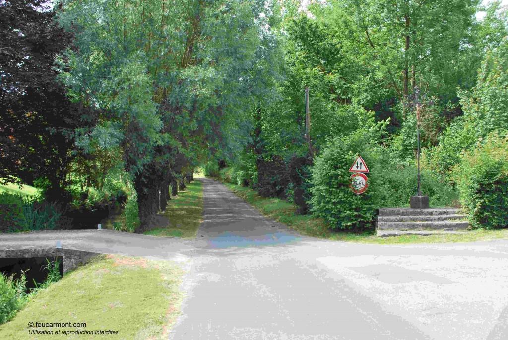 La rue des Canadiens telle qu'elle se présentait l'été dernier