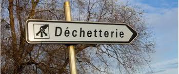 Pancarte Déchetterie