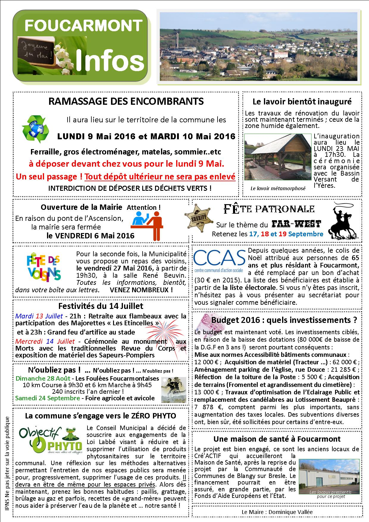Foucarmont Infos 1 05 2016