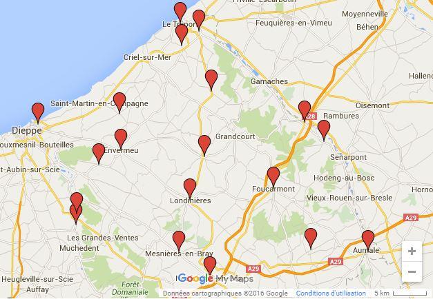 Carte de déploiement des bornes de recharge
