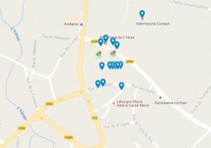 Google carte interactive