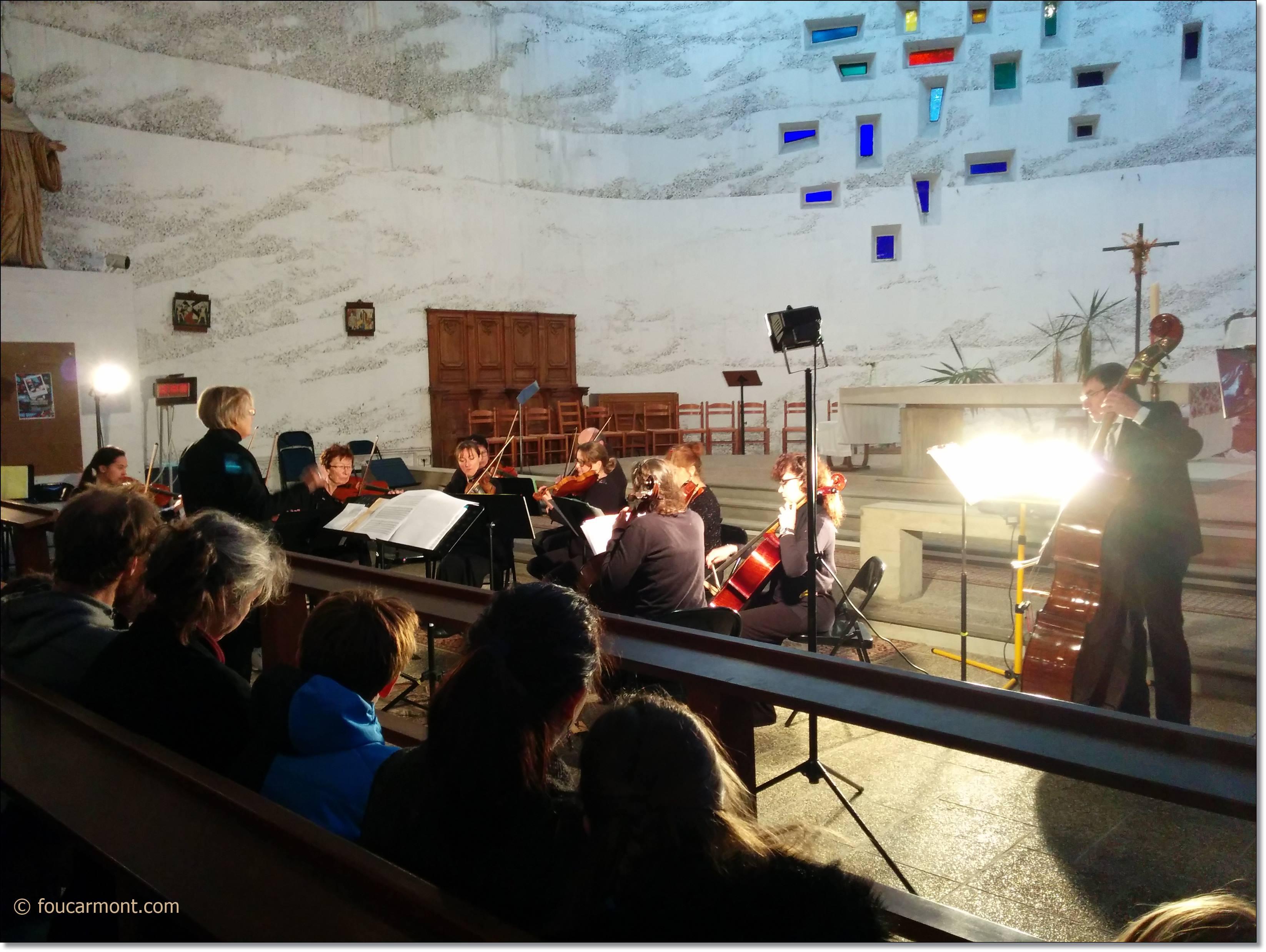 De la musique de chambre dans notre église pour fêter l'anniversaire de Musicatous