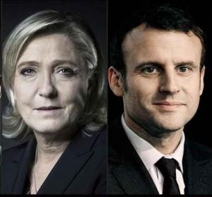 M. Le Pen et E. Macron